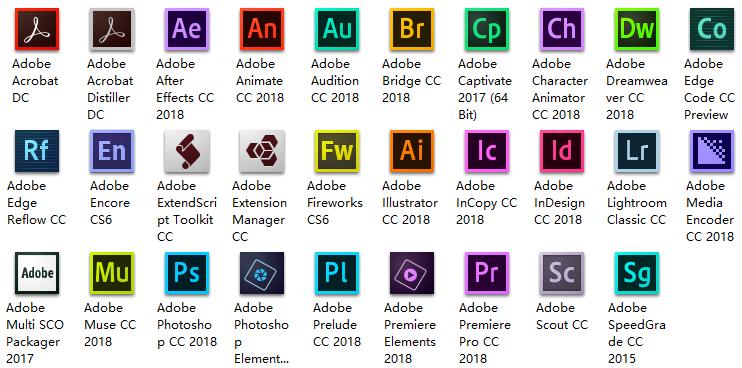 Adobe CC 2018 官方版安装包+赢政天下Adobe CC 2018.1 大师版