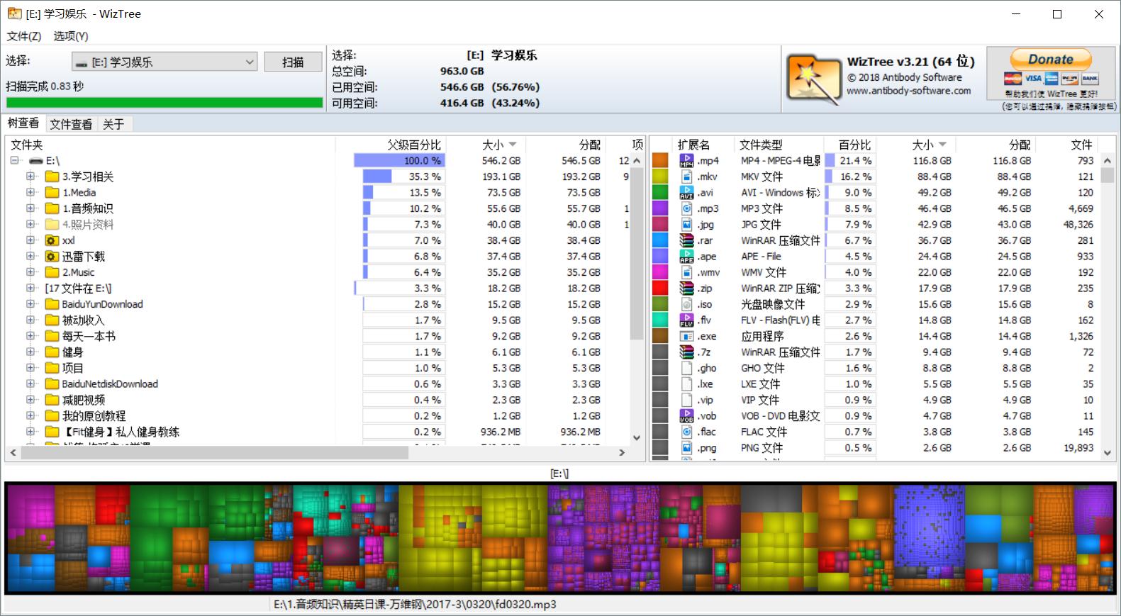 WizTree硬盘文件分析器